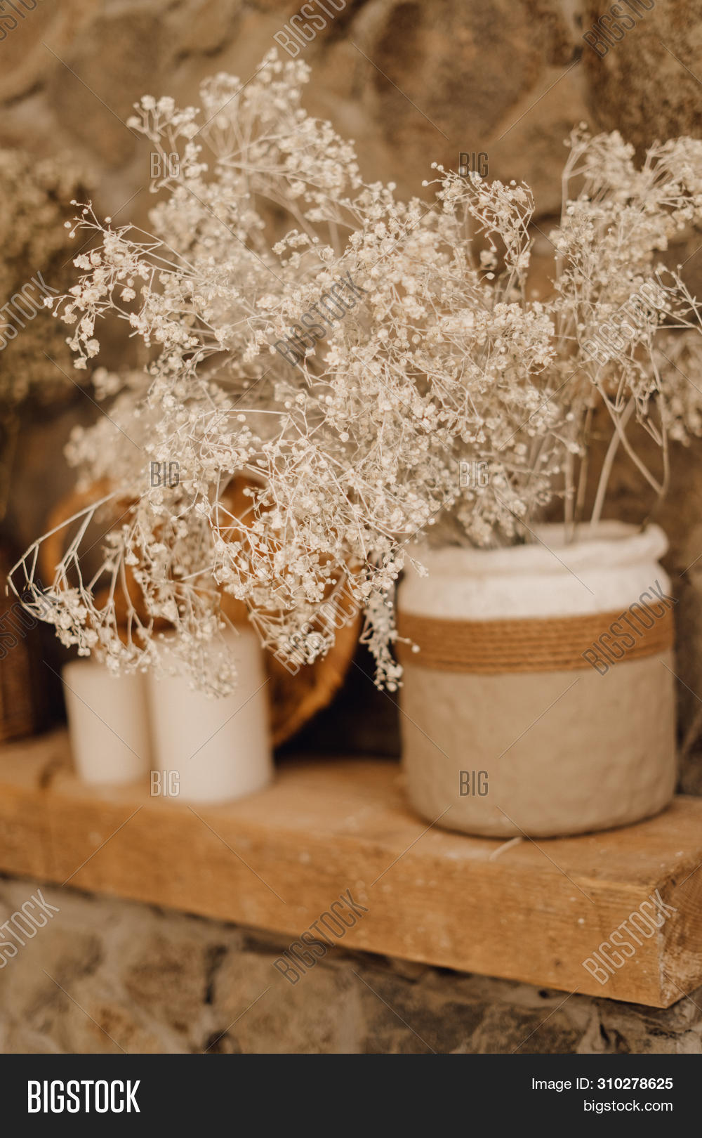 Dry Flower Rustic Vase Image Photo Free Trial Bigstock