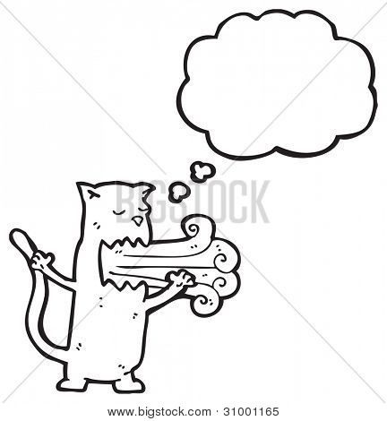 gross burping cat cartoon poster