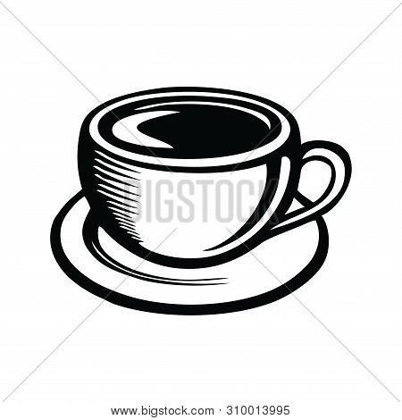 Coffe Cup Icon Isolated On White Background. Coffe Cup Icon Modern Symbol For Graphic And Web Design