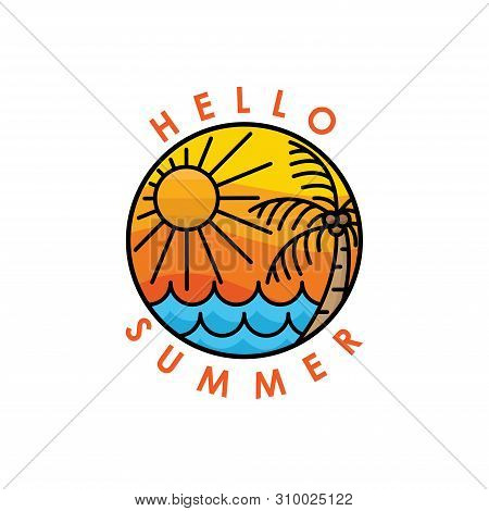Summer. Summer icon. Summer vector. Summer icon vector. Summer logo. Summer symbol. Summer vector icon. Summer vector isolated flat on white background. Summer icon simple sign for logo, web, app, UI. Summer icon flat vector illustration, EPS10.