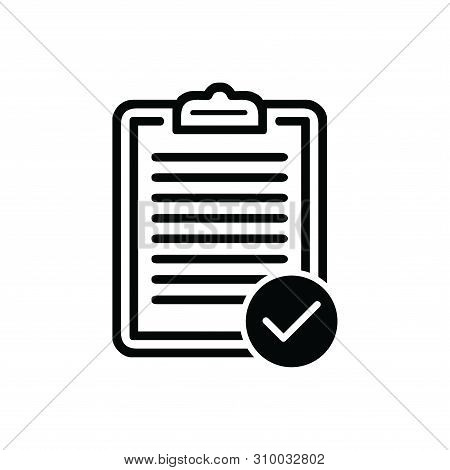 Clipboard With List Check Icon Isolated On White Background. Clipboard With List Check Icon In Trend
