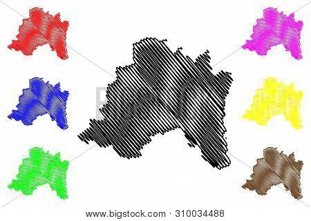 Santiago Metropolitan Region (republic Of Chile, Administrative Divisions Of Chile) Map Vector Illus