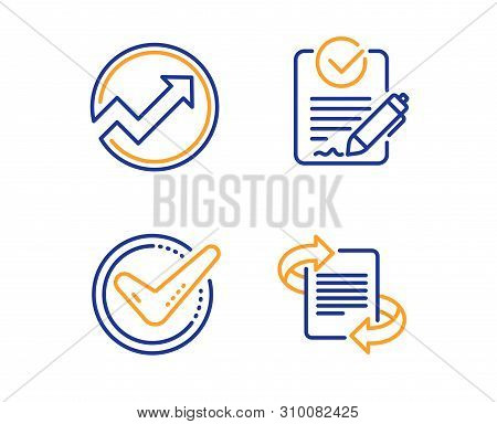 Confirmed, Audit And Rfp Icons Simple Set. Marketing Sign. Accepted Message, Arrow Graph, Request Fo