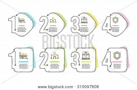 Restructuring, Start Business And Diagram Chart Icons Simple Set. Security Sign. Delegate, Launch Id