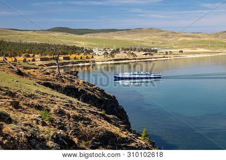 Pleasure Boat On Lake Baikal, Khuzhir Village