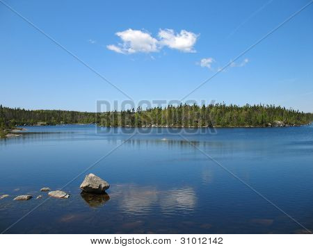 Pristine Lake in Nova Scotia