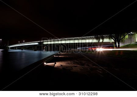 Lake Burley Griffin and Bridge at Night