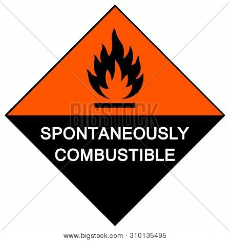 Spontaneously Combustible Symbol Sign Isolate On White Background,vector Illustration Eps.10