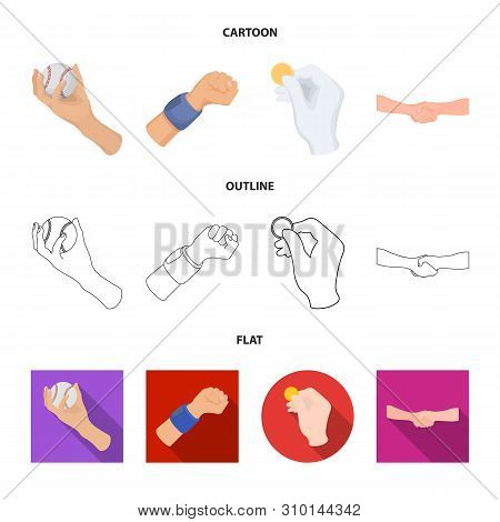 Isolated Object Of Animated And Thumb Sign. Collection Of Animated And Gesture Stock Symbol For Web.