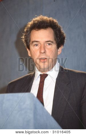 LONDON - FEBRUARY 28: Rt.Hon. William Waldegrave, Secretary of State for Health and Conservative party Member of Parliament for Bristol West, attends a press conference on February 28, 1992 in London, England.