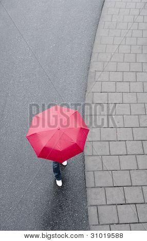 Human With Umbrella