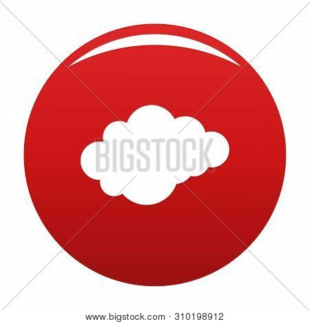 Cloud With Downfall Icon. Simple Illustration Of Cloud With Downfall Vector Icon For Any Design Red