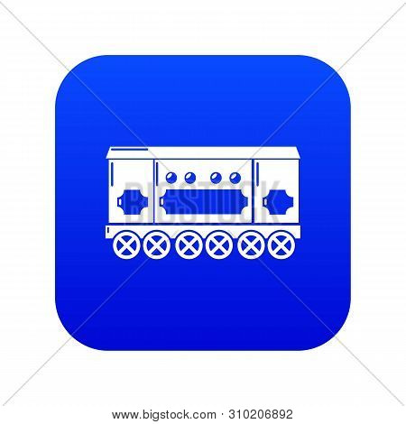 Compartment Carriage Icon Blue Vector Isolated On White Background
