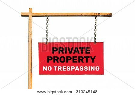 Vintage Street Sign Isolated. With The Inscription
