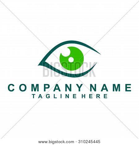 Optician Creative Symbol Concept Template. Eye Vector Logo Design Idea. Minimalistic Logo Design Lay