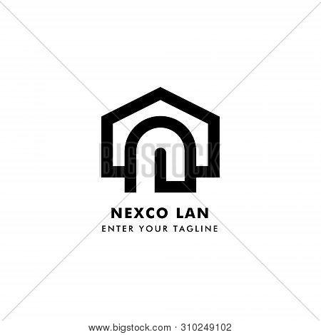 Logo Letter N, L Design, Concept Logo Letter N, L And Icon Door. Logo Vector Eps 10.