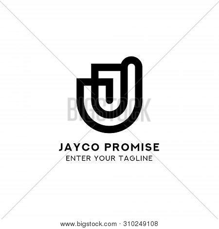 Logo Letter J Promise, Concept Logo Letter