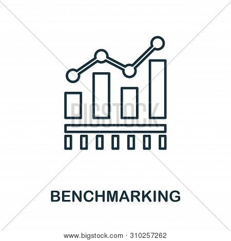 Benchmarking Outline Icon. Thin Line Concept Element From Business Management Icons Collection. Crea