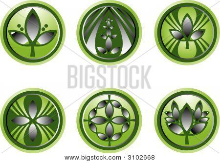 Assortment Of Green Leaf Logos