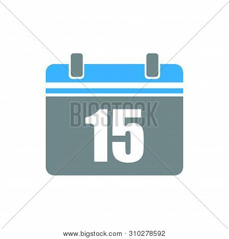 Calendar Icon Isolated 15 On White Background, Calendar Icon Vector Flat Modern, Calendar Icon, Cale
