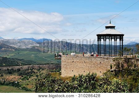 Ronda, Spain - May 13, 2008 - Gazebo In Blas Infante Park (paseo De Blas Infante) With Views Across