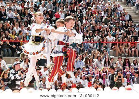 Belarussian children performing