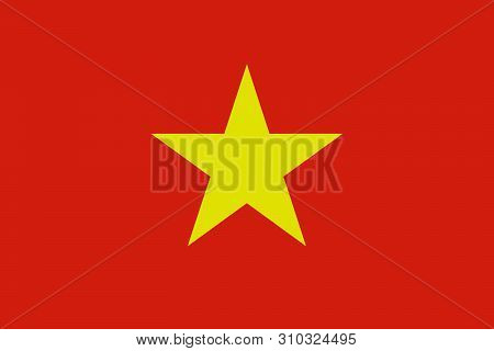 National Flag Of Socialist Republic Of Vietnam In The Original Colours And Proportions