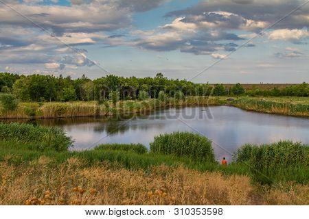 Reservoir In The City Park Recreation Park