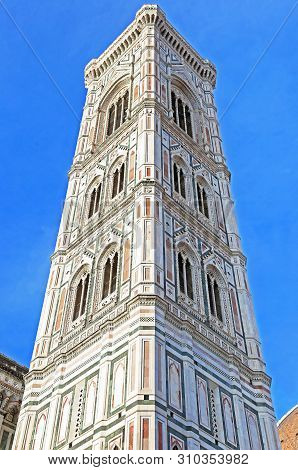 Part Of Florence Cathedral - Santa Maria Del Fiore Church - Famous Italian Landmarks