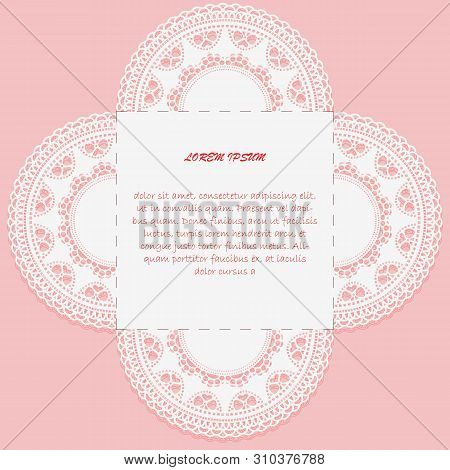 Template For Greeting Card Or Invitationwith Cutting Down. Sample Design. Template For Laser Cutting