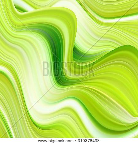 Modern Colorful Flow Poster. Wave Liquid Shape Color Background.