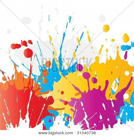 Grunge paint splatter background