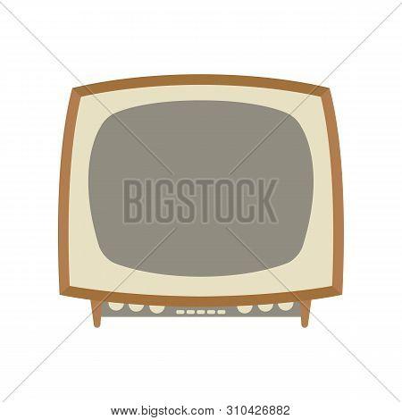 Retro Vintage Tv Set,vector Illustration,flat Style Front