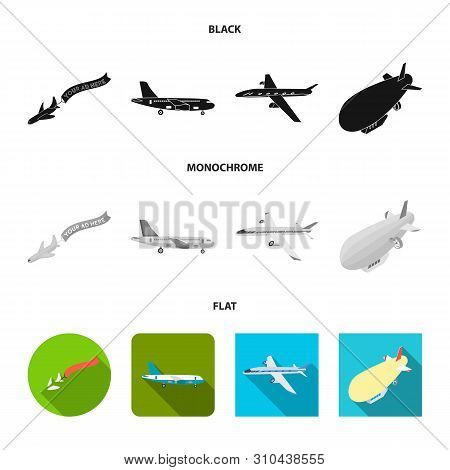 Isolated Object Of Transport And Object Sign. Collection Of Transport And Gliding Stock Symbol For W