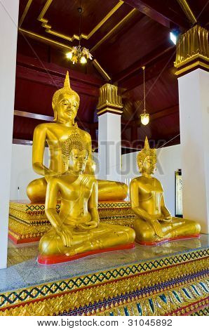 3 Buddha Image Sculpture