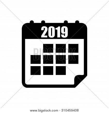 Calendar Icon 2019 Isolated On White Background, Calendar Icon Vector Flat Modern, Calendar Icon, Ca