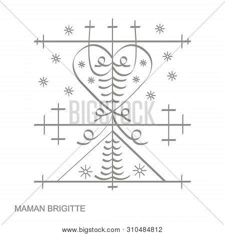 Vector Icon With Veve Vodoo Symbol Maman Brigitte