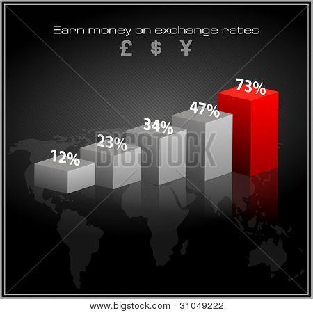schedule of exchange rates. vector infographics