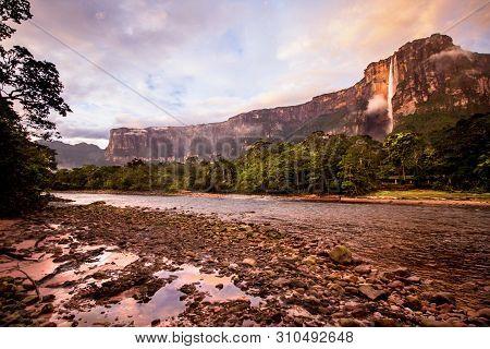 Sunrise At Angel Falls, Canaima National Park, Venezuela