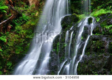 waterfall in the rainforest of central