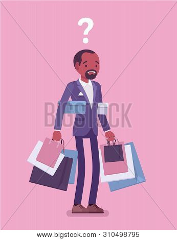 Shopaholic Man Buying Vector & Photo (Free Trial) | Bigstock