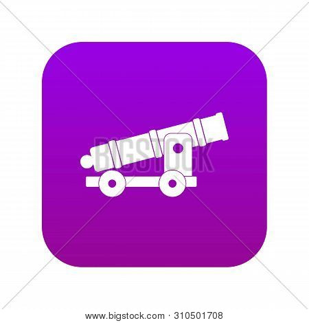 Cannon Icon Digital Purple For Any Design Isolated On White Vector Illustration