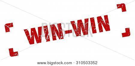 Win-win Stamp. Win-win Square Grunge Sign. Win-win