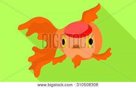 Colorful Goldfish Icon. Flat Illustration Of Colorful Goldfish Vector Icon For Web Design