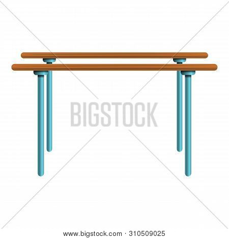 Parallel Bars Icon. Cartoon Of Parallel Bars Vector Icon For Web Design Isolated On White Background