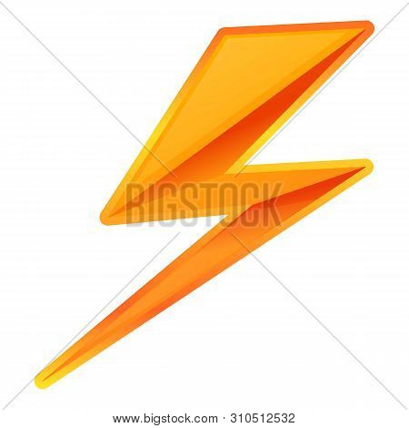 Zigzag Lightning Bolt Icon. Cartoon Of Zigzag Lightning Bolt Vector Icon For Web Design Isolated On
