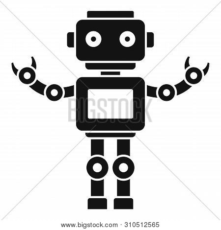 Machine Humanoid Icon. Simple Illustration Of Machine Humanoid Vector Icon For Web Design Isolated O