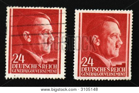 Post Stamps With Adolf Hitler