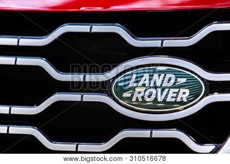 Belgrade, Serbia - March 23, 2019: Detail Of Land Rover Model Range Rover Evoque In Belgrade, Serbia