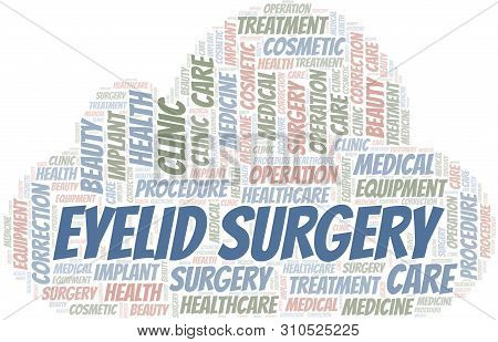 Eyelid Surgery Word Cloud Vector Made With Text Only